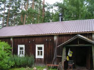 Русская печь-теплушка в домике на бывшем финском хуторе