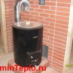 Нагрев воды в бане с помощью водогрейной печки-бака