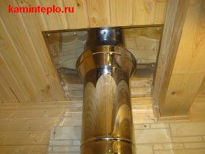 Проход через потолок и накладка